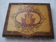 Old Handmade and hand painted Cigarette Box