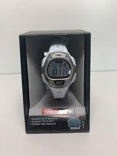 "Timex T5K515, ""Ironman"" 30-Lap White Resin Watch, Alarm, Indiglo, Chronograph"