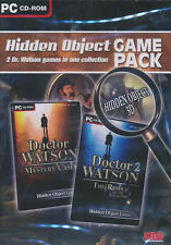 HIDDEN OBJECT GAME PACK 2x Dr Doctor Watson 3D Mystery PC Games - BRAND NEW