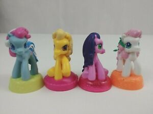 Lot of 4 2007 My Little Pony Factory McDonald's Happy Meal Toys