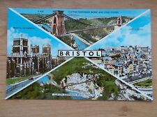 VINTAGE POSTCARD - VIEWS OF BRISTOL - CITY CENTRE - CATHEDRAL