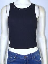 Poetry Black Sleeveless Studded Tank Top Juniors Size Small 3 5