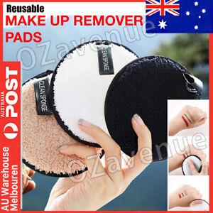 Reusable Makeup Remover Pads Microfiber Face Cleaner Puff Facial Cleansing 3PCS