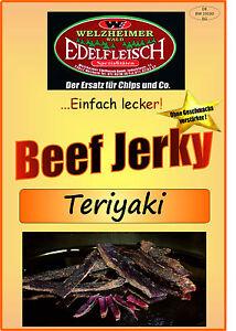 500 Gramm Beef Jerky Trockenfleisch Teriyaki  Würzung Am Stück / STIX