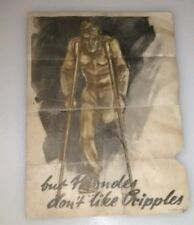 Nazi propaganda.UltraRare Genuine Wartime A5 Poster'Gentlemen Prefer Blondes...'