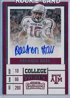 DAESHON HALL -  2017 Contenders College Ticket Rookie SP AUTO - Panthers RC