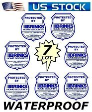 Brinks Home Security Window Sticker Signs - Lot of 7