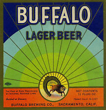 Delicious Beer Buffalo Brewing Bar Reproduction Sign 14 Round