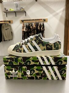 Adidas Superstar 80s x Bape Camo Sz 11 * SOLD OUT * IN HAND READY TO SHIP!