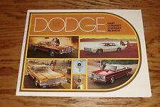 Original 1975 Dodge Full Line Sales Brochure 75 Dart Charger Coronet Monaco