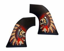 Custom Ruger Warrior Skull Grips OLD Model Vaquero Blackhawk XR3-RED Revolvers