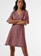 Dorothy Perkins Womens Petite Red Ditsy Mini Wrap Dress V-Neck