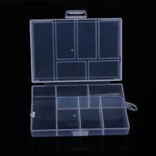 Plastic 15/24/36 Slot Adjustable Jewelry Storage Box Case Craft Organizer Holder