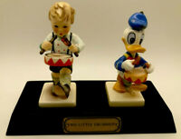Signed Rare MIB Limited Ed-Disney Goebel Hummel Two Little Drummers-Donald Duck