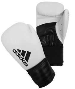 Adidas Hybrid 100 Boxing Gloves 8 10 12 14 16oz White Black Adult Sparring Glove