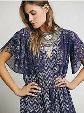 NWT STUNNING  Free People Plum/Silver LOVE YOUR CHAOS HOLIDAY Dress XS $128