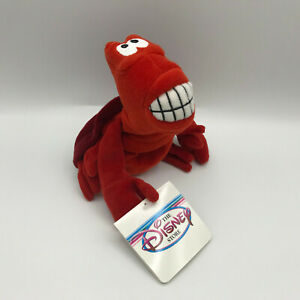 "The Disney Store Little Mermaid Sebastian Red Crab Mini Bean Bag 8"" Plush NEW"