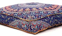 Indian Mandala Square Floor Pillow Cover Boho Throw Cushion Ottoman Pouf Dog Bed