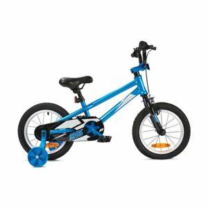 "Royalbaby 14"" Boys Kids Ride-on Bike 35cm Bicycle Blue with Training Wheels JK"