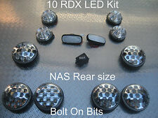 RDX LED Clair 10 lumières / grand côté arrière répéteurs Defender 1994 à 1998 300TDI C