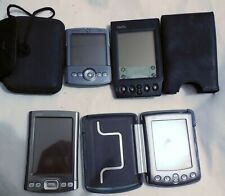 Lot of 4 Different Palm Devices M505, Tungsten T, Palm One Tungsten T5 and Viix