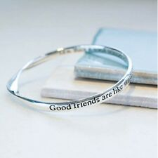 Silver Plated Message Bangle by Lovethelinks - Good Friends are like stardust...