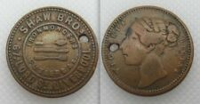 Collectable Queen Victoria Token - Shaw Brothers Liverpool - Ironmongers - Holed