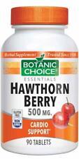 Botanic Choice Hawthorn Berry 500 mg 90 Vegetarian Tablets (free shipping)