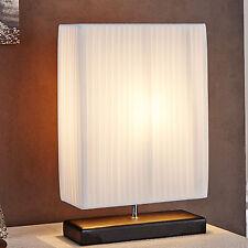 Design Tischlampe ATHENA weiss Plissee Latex Tischleuchte Lampe Leselampe NEU