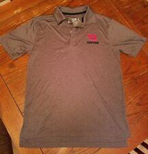 Mens University of Dayton Flyers UD short sleeve grey gray Polo, small