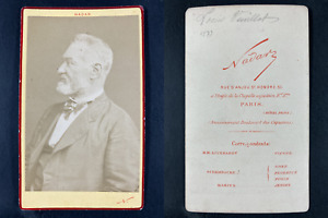 Nadar, Paris, Louis Veuillot, journaliste Vintage cdv albumen print.Louis Veui
