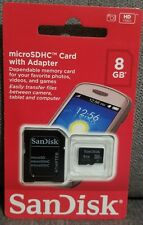 SanDisk 8GB MicroSD Micro SDHC TF Flash Class 4 Memory Card with SD Adapter