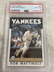 1986 Topps Don Mattingly PSA 8 Yankees #180
