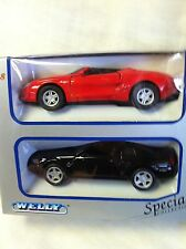 Welly Ford Mustang 2-Pack 2000's & Prototype Convertible  1/38