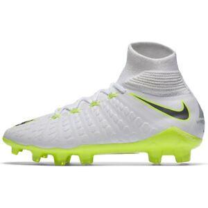 nike hypervenom Flyknit ACC youth girls soccer cleats white size 4