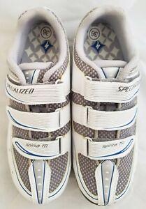 SPECIALIZED Spirita Touring Women's Shoe, White/Blue, 36 EU / 5.75 US - New