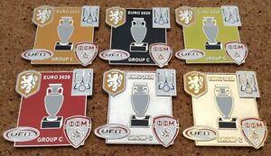 EURO 2020 GROUP C Pin Badges [HOLLAND, UKRAINE, AUSTRIA, NORTH MACEDONIA]