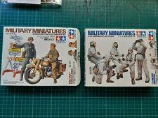 TAMIYA German Motorcycle Orderly-complete/German Flak Crew-incomplete, 1/35