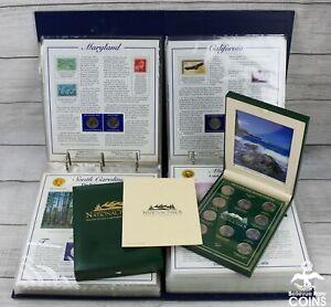 Lot of 4: Statehood Quarter Collection Binder PCS Albums+ National Parks (FV $33