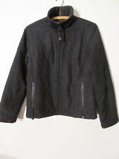 V7683 Ralph Lauren Polo Jeans Black Wool Blend Zip Up Poly-fill Jacket Men's S