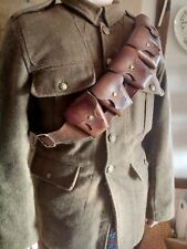 More details for british military 1903 pattern ww1 leather bandolier.