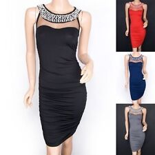 Women's No Pattern Scoop Neck Wiggle, Pencil Knee Length Dresses