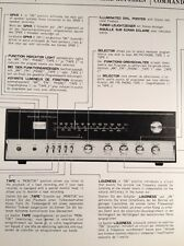 Wharfedale WE40 Stereo Receiver Original Owners Manual 9 Page combined languages
