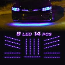 Set 14 Tubes Car Underbody Under Glow Purple LED Light Strip 9-3528-SMD Lighting
