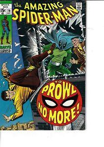 Amazing Spider-Man 79 Prowler VG/F 1969 Glossy Romita Cover