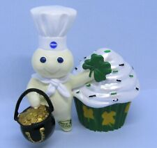 2013 Danbury Mint Pillsbury Doughboy St. Patricks Day Cupcake Porcelain Figurine