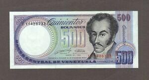 1990 500 BOLIVARES VENEZUELA CURRENCY GEM UNC BANKNOTE NOTE MONEY BANK BILL CASH