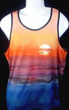 MENS AMERICAN EAGLE ACTIVE MESH SUNSET TANK TOP T-SHIRT SIZE M