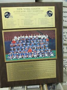 1990 New York Giants Super Bowl XXV Championship Plaque by Healy Awards
