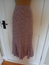 Laura Ashley Purple Floral Maxi Lined Skirt, UK 14 16, Excellent Condition